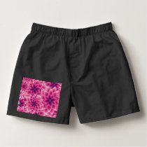 Summer colorful pattern purple dahlia boxers