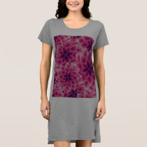 Summer colorful pattern purple dahlia dress