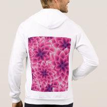 Summer colorful pattern purple dahlia hoodie