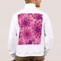 Summer colorful pattern purple dahlia jacket