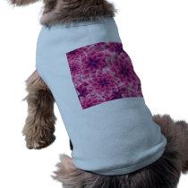 Summer colorful pattern purple dahlia shirt