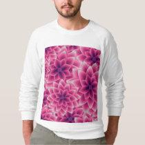 Summer colorful pattern purple dahlia sweatshirt
