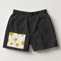 Summer colorful pattern purple marguerite boxers