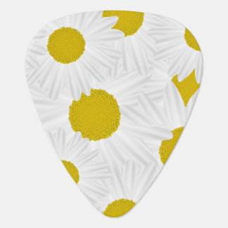 Summer colorful pattern purple marguerite guitar pick