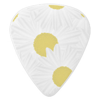 Summer colorful pattern purple marguerite white delrin guitar pick