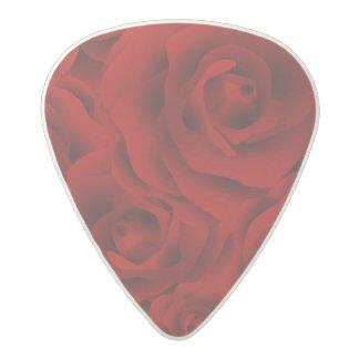 Summer colorful pattern rose acetal guitar pick