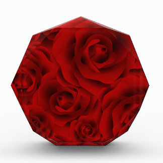 Summer colorful pattern rose acrylic award