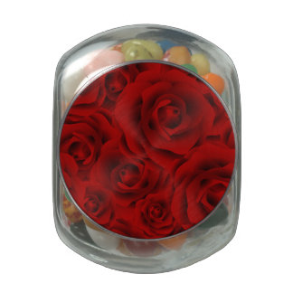 Summer colorful pattern rose jelly belly candy jar