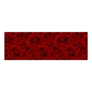 Summer colorful pattern rose poster