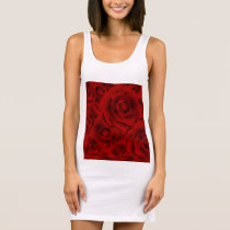 Summer colorful pattern rose sleeveless dress