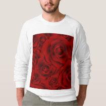 Summer colorful pattern rose sweatshirt