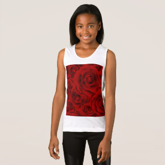 Summer colorful pattern rose tank top