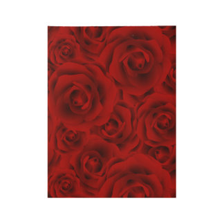 Summer colorful pattern rose wood poster