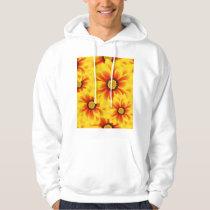 Summer colorful pattern yellow tickseed hoodie