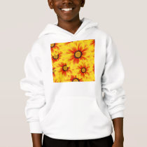 Summer colorful pattern yellow tickseed hoodie