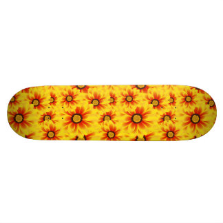 Summer colorful pattern yellow tickseed skateboard deck