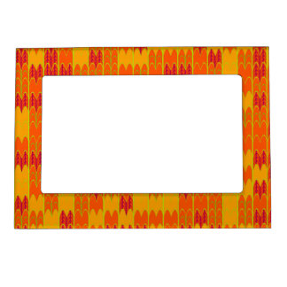 Summer Colors Geometric with Tree Magnetic Photo Frames