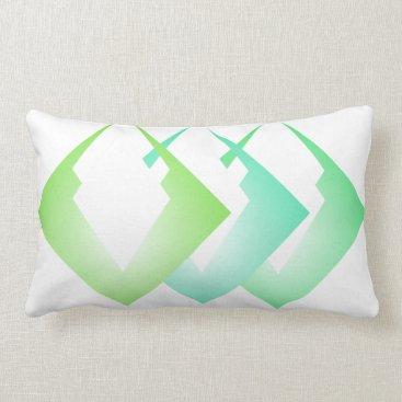 Beach Themed Summer Colors Travel Beach Decor Turquoise Lime Lumbar Pillow