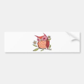 Summer colourful owl T shirt Bumper Sticker