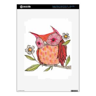 Summer colourful owl T shirt iPad 3 Skin