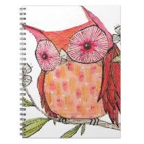 Summer colourful owl T shirt Notebook