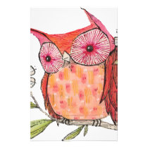 Summer colourful owl T shirt Stationery