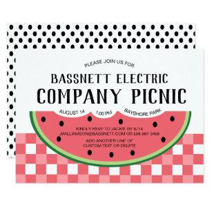 Summer Company Party Invitation Watermelon Picnic
