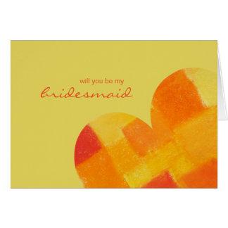 Summer confetti Be My Bridesmaid Card