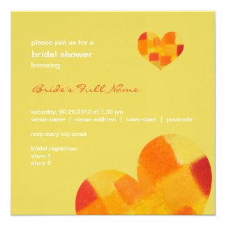 """Summer confetti Bridal Shower Invitation 5.25"""" Square Invitation Card"""