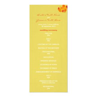 "Summer confetti Wedding Program 4"" X 9.25"" Invitation Card"