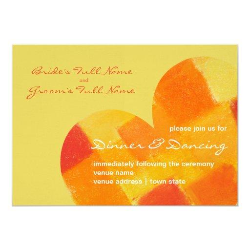 Summer confetti Wedding Reception Invite