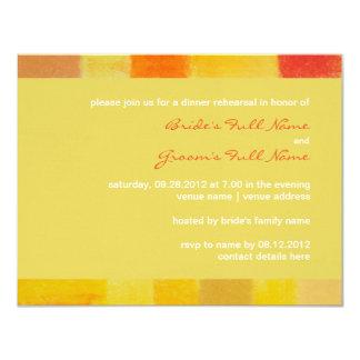 "Summer confetti Wedding Rehearsal Dinner Invite 4.25"" X 5.5"" Invitation Card"