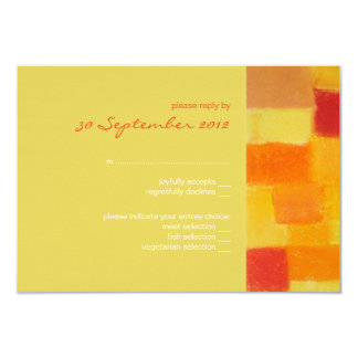 Summer confetti Wedding RSVP Card