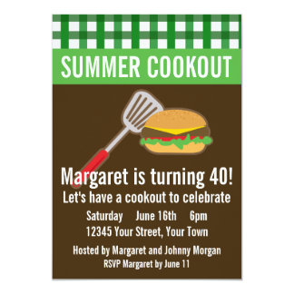 Summer Cookout Invitations