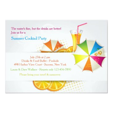 Beach Themed Summer Cooler Invitation