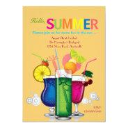 Summer Coolers Invitation at Zazzle