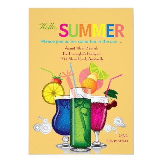 Summer Coolers Invitation