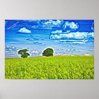 Summer cornfield poster