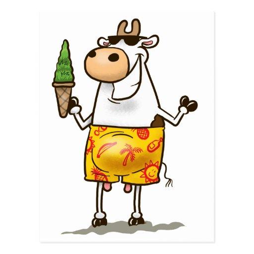 Summer Cow Postcard