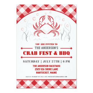 Summer Crab Boil & BBQ Party Invitation