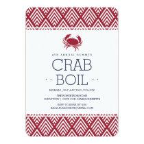 Summer Crab Boil Party Invitation