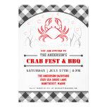 Summer Crab Fest & BBQ Party Invitation