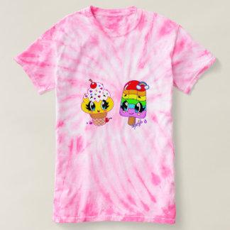 Summer Cute Treats Art Pink Tie Dye Shirt