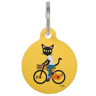 Summer Cycling Pet ID Tag