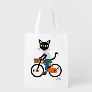 Summer Cycling Reusable Grocery Bag