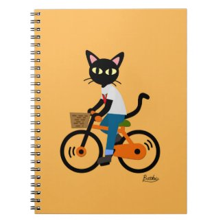 Summer Cycling Spiral Note Books