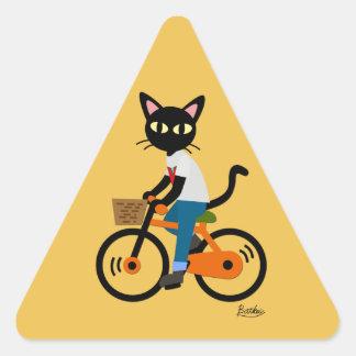 Summer cycling triangle sticker