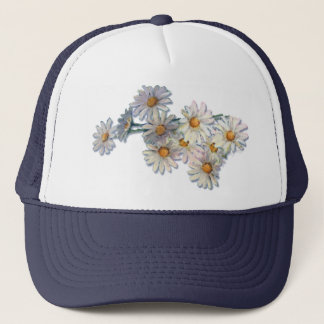 SUMMER DAISIES by SHARON SHARPE Trucker Hat