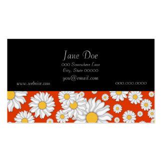 Summer Daisies on Bright Orange Business Card