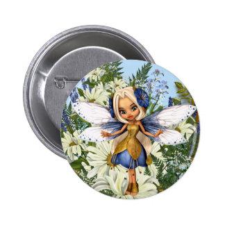 Summer Daisy Blue Fae Button